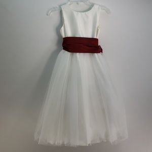 US ANGELS FLOWER GIRL DRESS SILK AND ORGANZA 6
